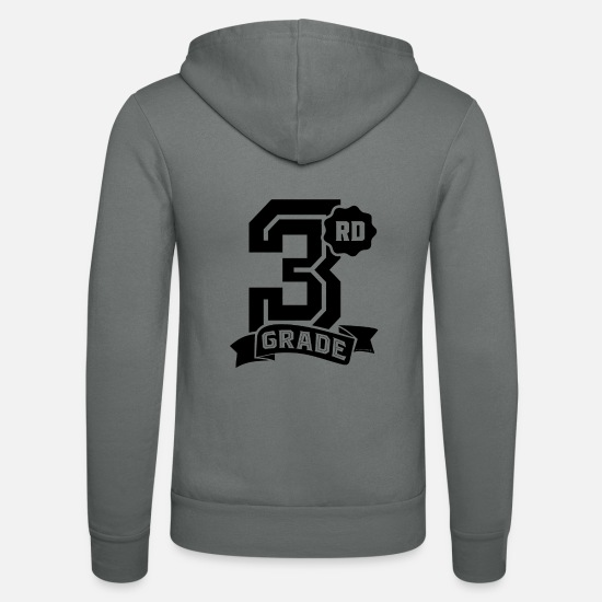 Back To School Hoodies & Sweatshirts - 3rd Grade - Unisex Zip Hoodie grey