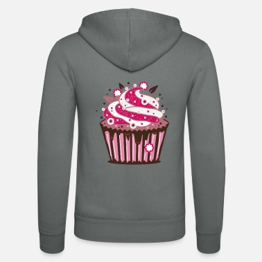 Frost A cupcake with frosting - Unisex Zip Hoodie