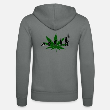 Cannabis Maglietta Cannabis Evolution Cannabis - Felpa con cappuccio di Bella + Canvas