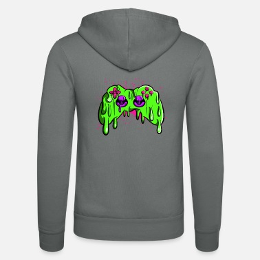 Melting Controller melted - Unisex Hooded Jacket by Bella + Canvas