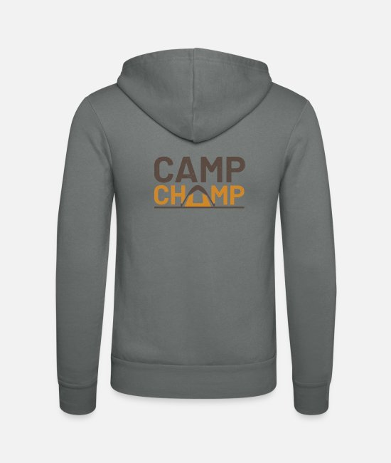 Tent Hoodies & Sweatshirts - camp champ - Unisex Zip Hoodie grey