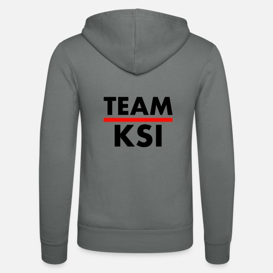 Team Hoodies & Sweatshirts - TEAM KSI - Unisex Zip Hoodie grey