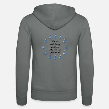 12th Day of Christmas drummers - Unisex Zip Hoodie