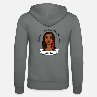 Sultry Aries Girl Design No.6 - Unisex Zip Hoodie