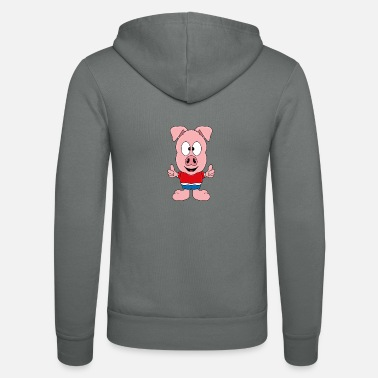 Hog Pig - Pig - Children - Farm - Farm - Unisex Zip Hoodie