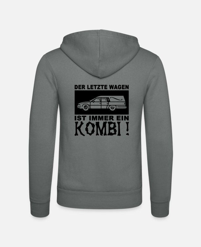 Urn Hoodies & Sweatshirts - The last car - Unisex Zip Hoodie grey