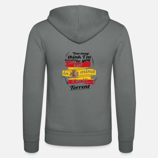 Torrent Pullover & Hoodies - URLAUB Spanien espanol TRAVEL I M IN Spain Torrent - Unisex Kapuzenjacke Grau
