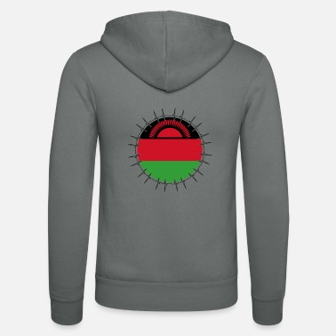 Malawi Love ECG Heartbeat Home Vacations Roots Malawi pn - Unisex Zip Hoodie