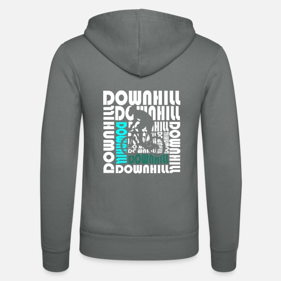 Bicycle Hoodies & Sweatshirts - Downhill - Unisex Zip Hoodie grey