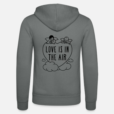Valentinstag - love is in the air 1c - Unisex Kapuzenjacke