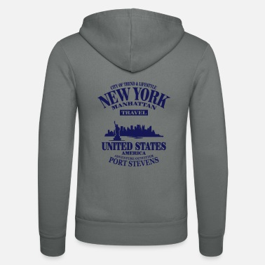 United States New York Skyline - United States - Unisex zip hoodie