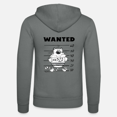 Comic Wanted - Katze - Sträfling - Comic - Fun - Unisex Kapuzenjacke