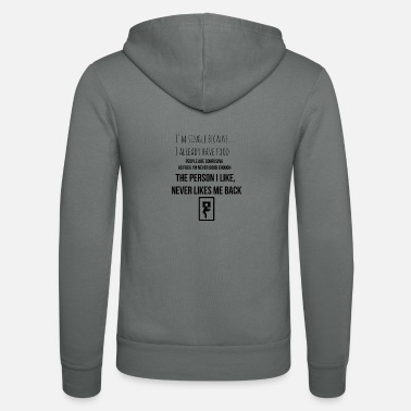 Single Want ik ben single - Unisex zip hoodie