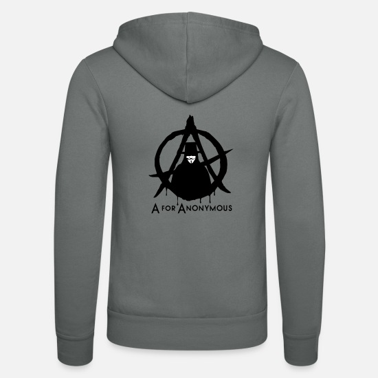 Anonymous Hoodies & Sweatshirts - Anonymous - A are Anonymous - We are legion - Unisex Zip Hoodie grey
