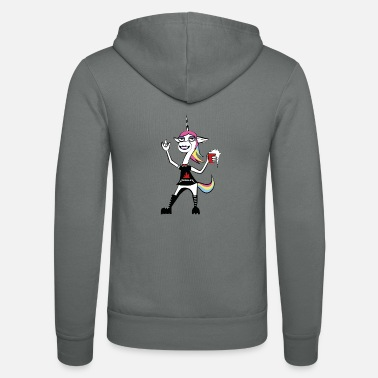 Rock Am Ring Metal Corn - The unicorn for the festival summer - Unisex Zip Hoodie