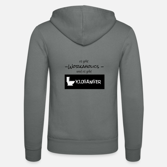 Office Hoodies & Sweatshirts - Workaholics and Klogänger office gift idea - Unisex Zip Hoodie grey