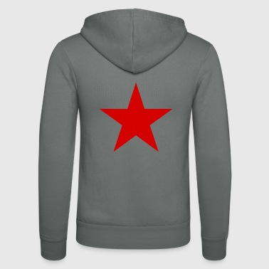 Star red, red star - Unisex Hooded Jacket by Bella + Canvas