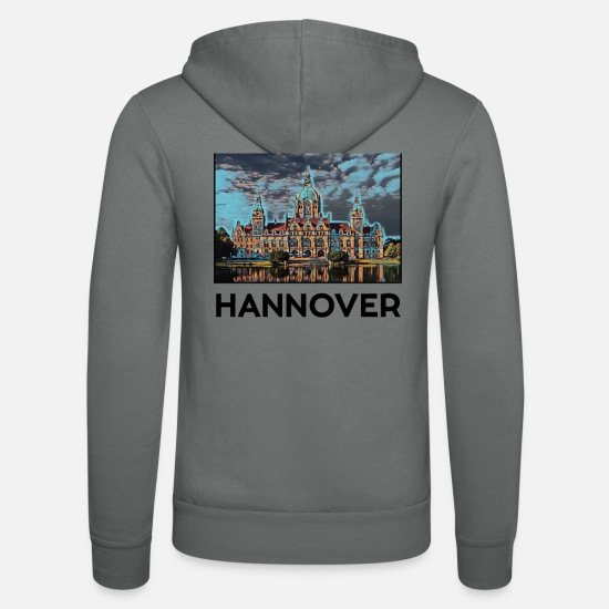 Germania Felpe - Hannover city skyline Germania arte - Felpa con zip unisex grigio