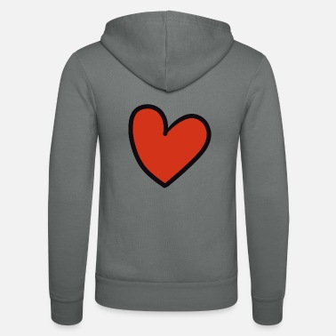 Crook crooked heart - Unisex Zip Hoodie