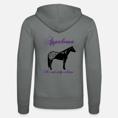 Silhouette appaloosa_its_not_only_a_horse - Unisex Kapuzenjacke