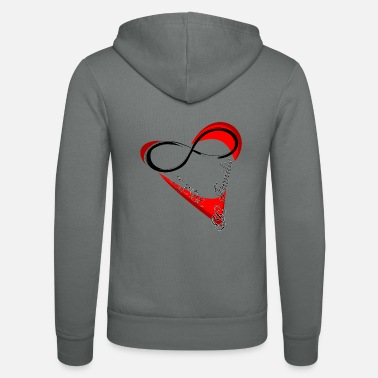 Valentines Day Love and family valentines day gift - Unisex Hooded Jacket by Bella + Canvas