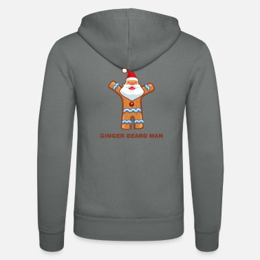 Ginger Ginger Beard Man Bread Man Funny Christmas - Unisex Hooded Jacket by Bella + Canvas