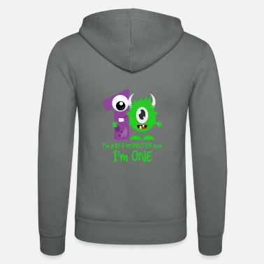 1st Birthday Funny Little Monster 1st Birthday design - Unisex Zip Hoodie