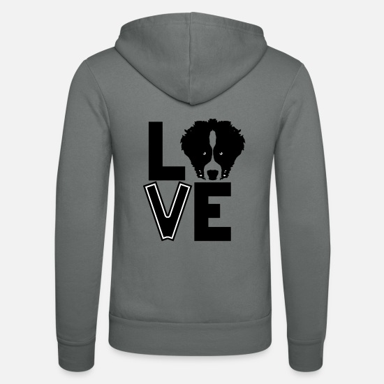 Love Hoodies & Sweatshirts - Aussie Love - Unisex Zip Hoodie grey