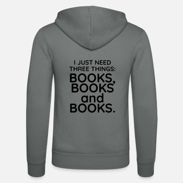 Book Books, books and books - Unisex Zip Hoodie