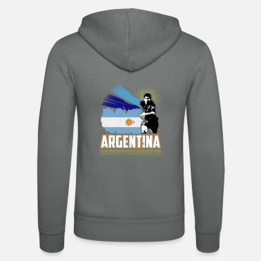 Officialbrands World Soccer Argentina / Football Love T-Shirt - Unisex Zip Hoodie