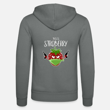 Pun Strawberry Funny Pun This is Stroberry - Unisex Zip Hoodie