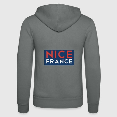 Nice France Nice France Nice - Unisex Hooded Jacket by Bella + Canvas