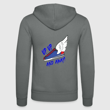 UP UP & AWAY sneaker - Unisex hoodie van Bella + Canvas