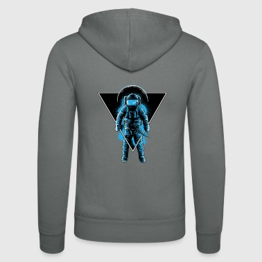 Space Astronaut Galaxy surfer - Unisex hoodie van Bella + Canvas