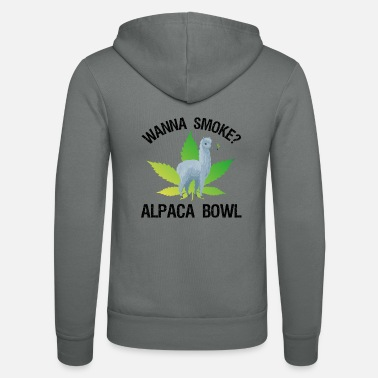 Paysbas Wanna Smoke? Alpaca Bowl - Veste à capuche unisexe Bella + Canvas