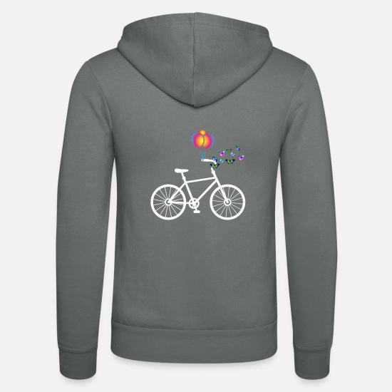 Bicycles Hoodies & Sweatshirts - bicycle - Unisex Zip Hoodie grey