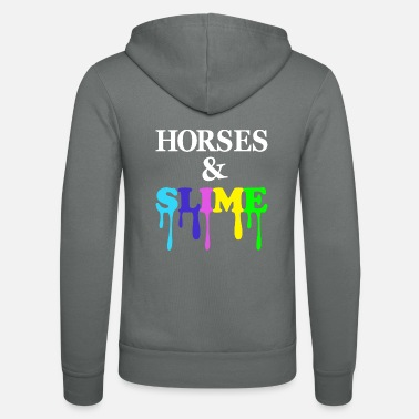 Slime Horses and Slime - Unisex Hooded Jacket by Bella + Canvas