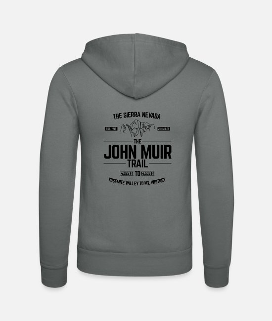 Trail Hoodies & Sweatshirts - The John Muir Trail JMT for ThruHikers - Unisex Zip Hoodie grey