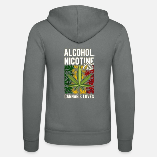 Hemp Hoodies & Sweatshirts - Entry 29 cannabis - Unisex Zip Hoodie grey