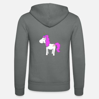 cartoon unicorn - Unisex Zip Hoodie