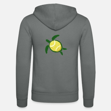 Tennis ball shields tennis toad ball gift - Unisex Zip Hoodie