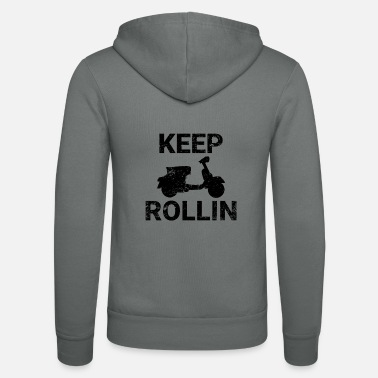 Scooters Meet Keep Rollin scooter PX retro scooter gift - Unisex Zip Hoodie