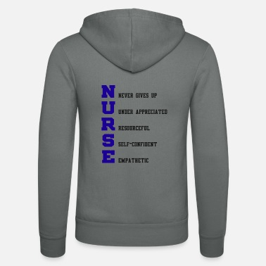 Selfconfidence Nurse Definition - Unisex Zip Hoodie