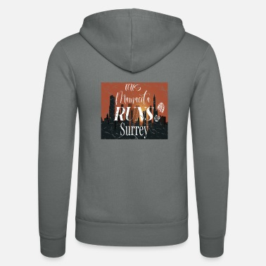 Surrey This Mamacita Runs Surrey Tee for Joggers and Runn - Unisex Zip Hoodie