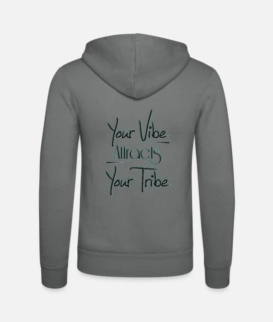 Attractive Hoodies & Sweatshirts - Your Vibe AttractsYour Tribe - Unisex Zip Hoodie grey