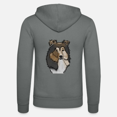 Langharige Collie Mama | Collie Rough Collies - Unisex zip hoodie