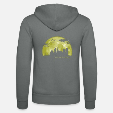 Statue SAN FRANCISCO Moon Light Night Stars Skyline - Unisex Zip Hoodie