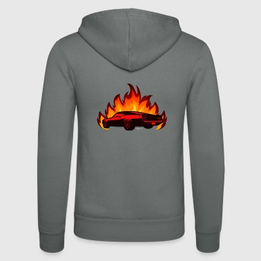 muscle car - Unisex Hooded Jacket by Bella + Canvas