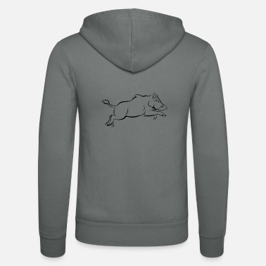 Boar Boar in the jump - Unisex Zip Hoodie