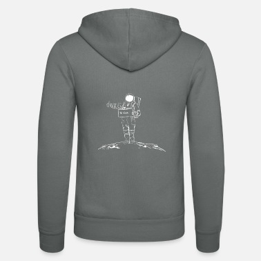 Astronaut hitchhikers across the galaxy white - Unisex Zip Hoodie